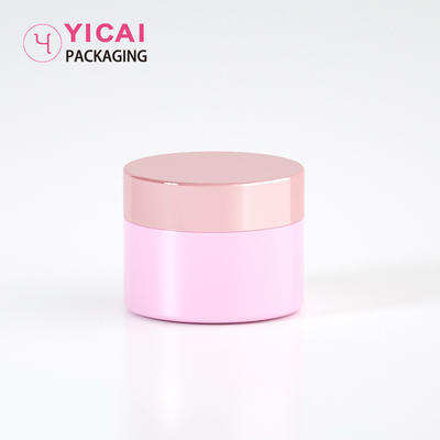 YC-G10 Pink Colored Acrylic Skin Care Cream Jars Containers