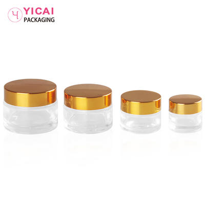 YC-B10 Luxury Cosmetic Glass Empty Cream Jar