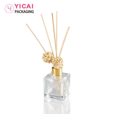 YC-B63 Clear Square Glass Spray Aroma Bottle