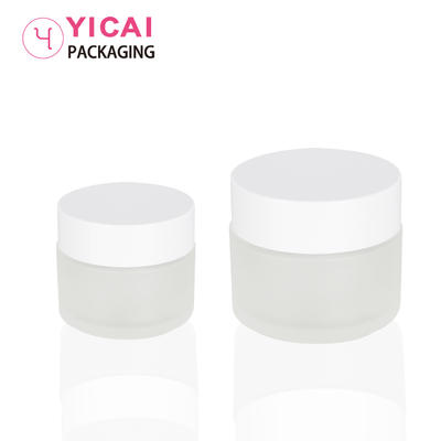 YC-B16 Luxury Cosmetic Glass Empty Cream Jar