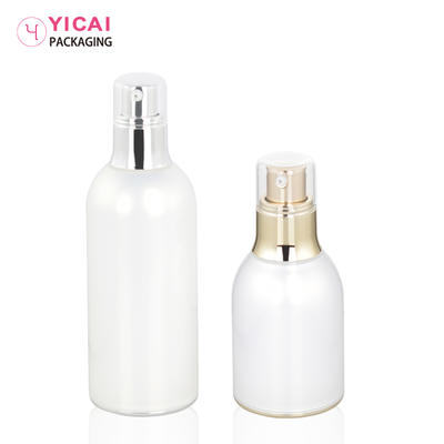 YC-Z136 PMMA cosmetic bottles and cream jars for body lotion packaging