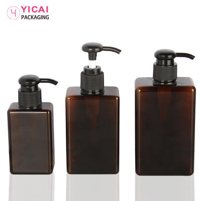 YC-R68 clear plastic pet cosmetic bottles and cream jars for body lotion packaging
