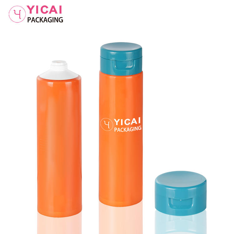 Hand Cream Clear frosted Tube packaging Plastic squeeze Tube Cosmetic